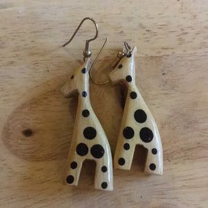Jewelry - Wooden giraffe 🦒 earrings